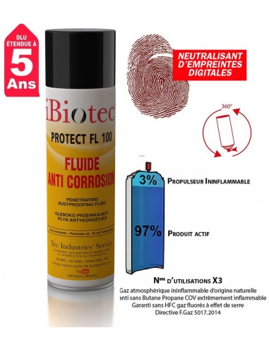 FIPCENTER-Protect FL 100 huile protection anti-corrosion longue durée IBIOTEC-PROTECT FL 100