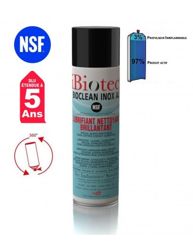 FIPCENTER-Bioclean Inox Al Lubrifiant nettoyant spécial inox - NSF agro IBIOTEC-BIOCLEAN INOX AL515755
