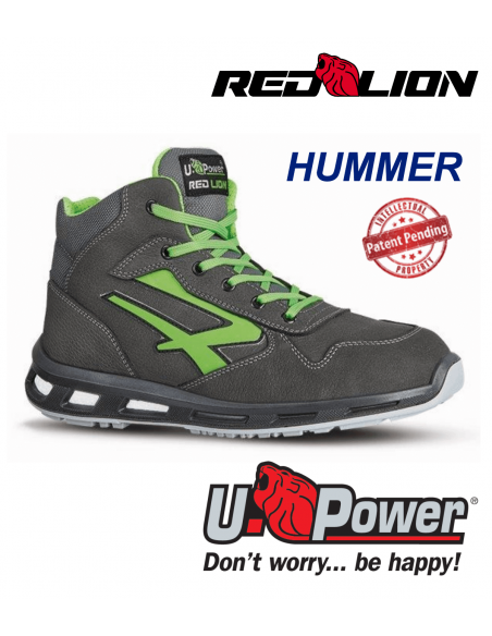 FIPCENTER-Chaussure de securité montante UPOWER look basket REDLION HUMMER S3 SRC-RL10174