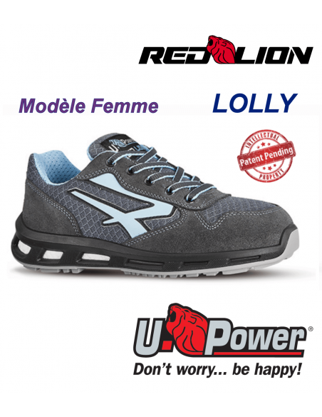 FIPCENTER-Chaussure de sécurité femme type basket UPOWER REDLION LOLLY S1P SRC-RL20206
