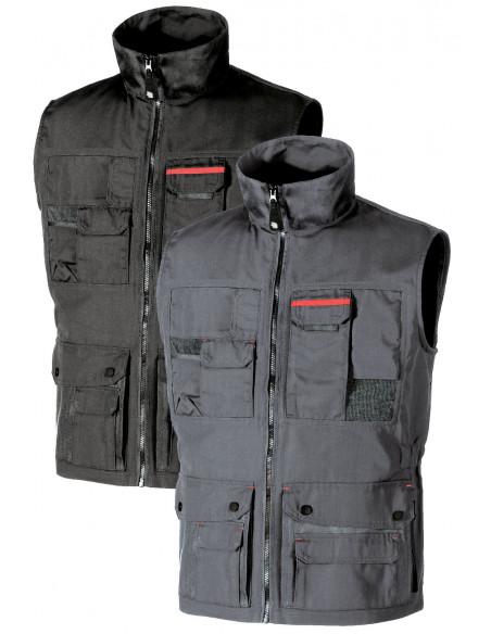FIPCENTER-Gilet de travail sans manches fonctionnel multi poches Upower FIRST SY004-SY004